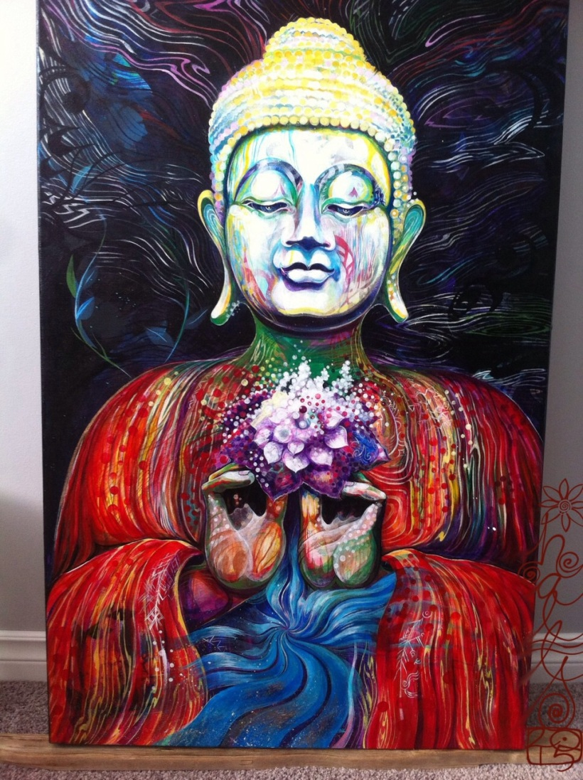 painting the Buddha is natural, for we are all Buddha nature