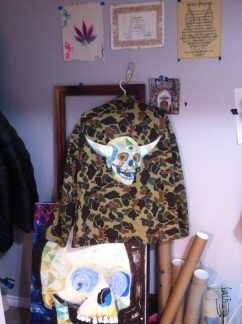 hand painted jacket 'Viking Skull' for Shane