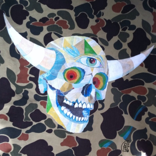 closer detail of 'Viking Skull'