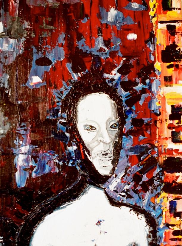 2004 city man acrylic on canvas 20x24inches