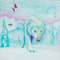 winter wolf (acrylic on canvas)