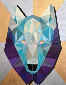 wolf totem (acrylic on canvas)