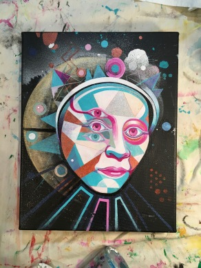 paradigm shift WIP acrylic on canvas