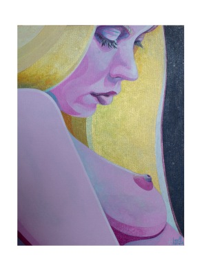 'dreamer' acrylic on canvas board