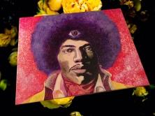 'purple haze' acrylic on canvas board